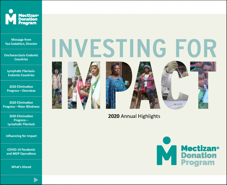 Cover of the 2020 MDP Annual Highlights file.