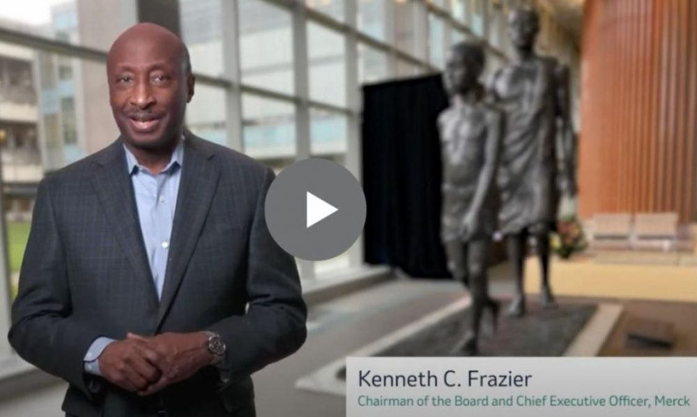 Screen shot of video with Ken Frazier